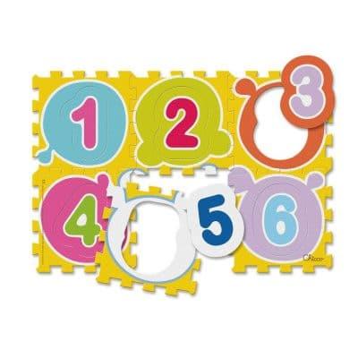 פאזל רצפה 6 חלקים מספרים – First Numbers Puzzle