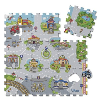 פאזל רצפה 9 חלקים עיר – Chicco Play Mat Puzzle City