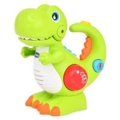 צעצוע דינוזאור עם אורות, הקלטה ומוזיקה – Toy Dino Voice Changing And Flash Torch